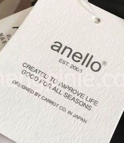 Anello双肩包的吊牌真假对比2